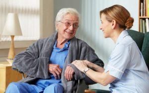 уход за слепыми пожилыми людьми